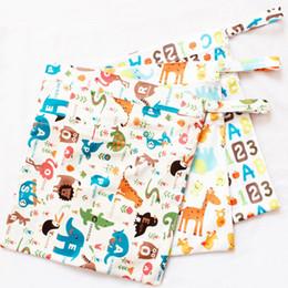 Wholesale Waterproof Tote Bag Pattern - Printing pattern waterproof diapers bag baby double zipper double diapers bag portable bag wholesale free shipping