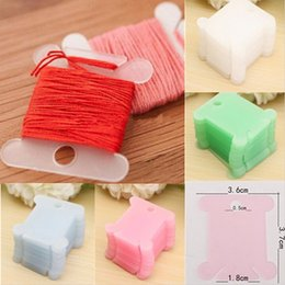 Wholesale Cross Stitch Holder - 100pcs Plastic Embroidery Floss&Craft Thread Bobbins for Storage Holder Cross Stitch Sewing Supplies