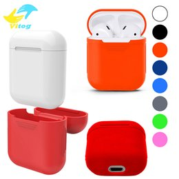 Wholesale Transparent Earphones - 2018 New For Apple Airpods Silicone Case Soft TPU Ultra Thin Protector Cover Sleeve Pouch for Air pods Earphone Case