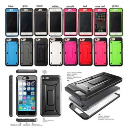 Wholesale Iphone Case Defender Rugged - Robot Beatle Supcase Shockproof Armor Case Heavy Duty Rugged Defender Case Back Cover For iphone 7 7Plus 6 6S Plus 5S Samsung Galaxy S6 S7