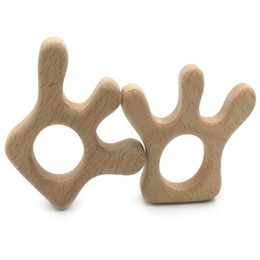 Wholesale Friendly Toys Cars - Handmade Baby Teether Wooden Car Claw Beads Wooden Teether Toys For Baby Chew Infants Organic Eco-friendly Wood DIY Accessories