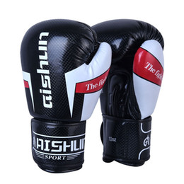 Wholesale Karate Martial Arts - Boxing gloves top quality PU material professional Sanda gloves Sport training MMA Karate Muay thai Free shipping