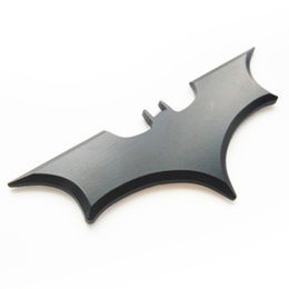 Wholesale cool 3d logos - wholesale  3D bat car sticker cool metal bat auto logo cover car styling car stickers metal batman badge emblem tail decal motorcycle