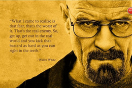 Wholesale Wall Art Quotes Canvas - Framed Breaking Bad Walter White Quotes,HD Print Art Portrait Painting On Quality Canvas Wall Decor Multi Sizes Free Shipping Mv003