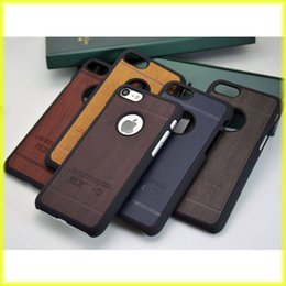 Wholesale Apple Half - For iPhone7   6s Creative Wooden Patterns Mobile Phone Case PC Half Pack Hard Shell Wholesale with Retail Bag via Free Shipping