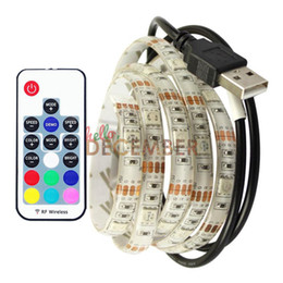 Wholesale Neon Lights Signs Wholesale - Dimmable USB RGB LED Strip Light 5V 5M 150 LEDs SMD5050 20 Colors Changeable LED Neon Sign Strips