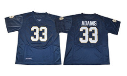 Wholesale American Football College Jerseys - 2018 new Men's # 33 Adams Blue college american football jerseys Excellent quality cheap wholesale