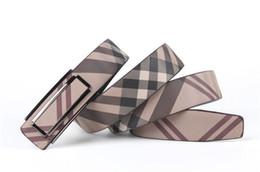 Wholesale Fashion Leather Pants For Men - Fashion 2017 men's genuine leather business belt fashion belts for men Flower Plaid strap designer waistband pants accessory