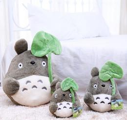 Wholesale Lotus Doll - 2017NEWCartoon Totoro Doll Plush Toys My Neighbor Totoro Stuffed Toy Soft Doll Totoro with Lotus Leaf Kids Toys Gift ty Toys