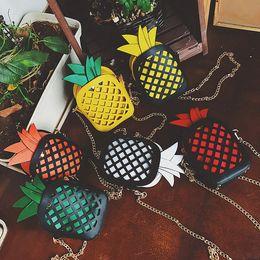 Wholesale Stock Envelopes - Shoulder Bag Female Fashion Handbags Hollow cute pineapple Crossbody Women Messenger Bags Girls Envelope Clutch Bags IC584