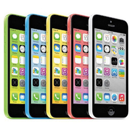 Wholesale 5c Unlock - Refurbished Original Apple iPhone 5C IMEI Unlocked 8G 16GB 32GB IOS8 4.0 inch Dual Core A6 CPU 8.0MP 4G LTE Smart Phone Free DHL 10pcs
