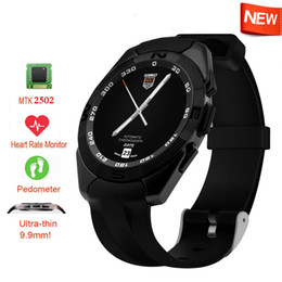Wholesale Running Watches Heart Rate - Sport Running Smart Watches NO.1 G5 Men Women Health Bluetooth Smartwatch Clock For Android IOS Phone With Heart Rate Monitor