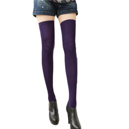 Wholesale Ladies Tights Cheap - Hot 2016 New Fashion Sexy Women Ladies Over Knee Thigh High Stockings Tights Girls Cosplay Kawaii Lolita Long Stocking Cheap Z1