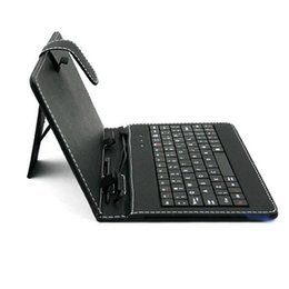 Wholesale Ipad Usb Case - hot sale tablet case 7 8 9 10 inch universal tablet usb stand leather keyboard case