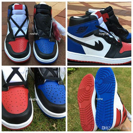 """Wholesale Basketball Pick - 2016 New Retro 1 High OG """"Top 3"""" Pick Mens Basketball Shoes Quality AAA 555088-026 Athletic Sport Sneakers Eur 40-47 US 7-13"""