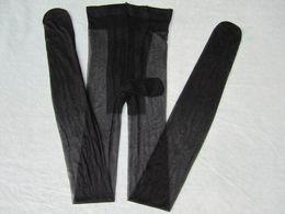Calcetines de nylon femeninos online-Ahueca hacia fuera las medias atractivas calcetines pene pantyhose malla femenina negro hombres medias altas wais medias largas medias de red del partido del club calcetería