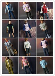 Wholesale Doll Boy Clothes Set - 5 sets clothes For Barbie boyfriend Dolls 1 6 ken nice baby toys Girls Gift pullip boy Doll Accessories casual suit lot clothing