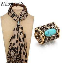 Wholesale Scarfs Clips Metal - MissCyCy Cameo Scarf Clip Vintage Brooch Hollow Butterfly Rhinestone Brooches Women Metal Brosh