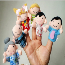 Wholesale Puppets For Storytelling - Wholesale-6 Pcs Finger Even Storytelling Good Toys Hand Puppet For Baby's Gift OCT 18