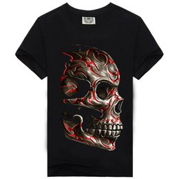 Wholesale El Glow T Shirt - 2017 New Style Fashion Men T shirt T-shirt Luminous Pattern Printed glow in the dark Short Sleeve