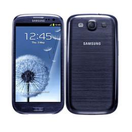 Wholesale S3 Ram - Original Samsung Galaxy S3 i9300 Quad Core 4.8inch 1gb RAM 16gb ROM 8MP Camera 3G Unlocked phone refurbished smartphone