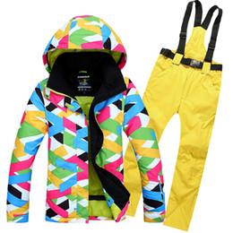 Wholesale korea women clothes - 2016 new RIVIYELE Korea outdoor windproof waterproof ski suit super thick warm color fashion female clothing slim ski ski jacket