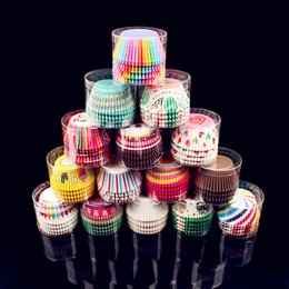 Wholesale Paper Cupcake Greaseproof - 100pcs Lot Colorful Greaseproof Paper Cake Cup Liners Baking Muffin Cup Case Cupcake for Home Party