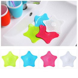 Wholesale Kitchen Sink Styles - Starfish Hair Catcher No Slip Suction Cups Drain Cover Hair Catcher Sink Strainers  Silicone Bathroom Drains Strainer Kitchen Sink Strainer