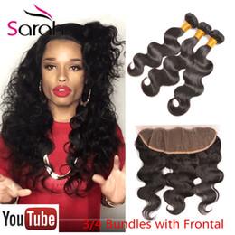 Wholesale Wholesale Virgin Burmese Hair - 13x4 Burmese body Wave Lace Frontal Closure With Bundles Queen Hair beauty mink Virgin Human Hair weave With frontal Closure Bundles
