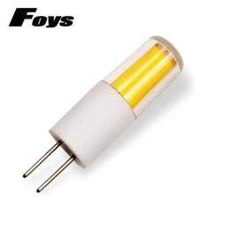 Wholesale Good Crystal Chandelier - 10Pcs G4 LED Lamp COB 12V Corn Bulb Replace Halogen Lamp Ceramic Holder light good heat dissipation Crystal Chandelier Lampada