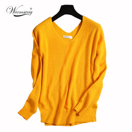 Wholesale Womens Poncho Capes - Wholesale- Women's Sweater Fashion Autumn Wool Pullover Womens Capes And Ponchoes Hollow Out sexy Pull Femme Womens Jumpers WS-104
