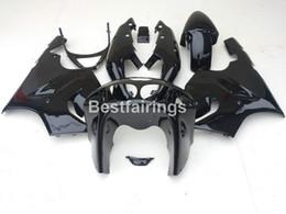 Wholesale Kawasaki Ninja Body Kit Parts - New hot body parts fairings for Kawasaki Ninja ZX7R 96 97 98 99 00-03 glossy black fairing kit ZX7R 1996-2003 TY42