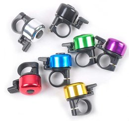 Wholesale Bell Horn - 1200pcs lot Bike Frame Mini Metal Ring Handlebar Bell Sound Horn Horns for Bike Bicycle Cycling Free shipping
