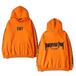 Justin bieber propósito jersey online-Nueva moda 2017 otoño hombres / mujeres Justin Bieber Purpose Tour sudaderas con capucha de manga larga sudadera con capucha más el tamaño S-XXXL