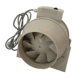 "Wholesale Exhaust Ventilation - 6"" Inch Two Speed Control Axial Flow Plastic Ventilation Duct Exhaust Blower Fan"