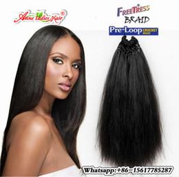Wholesale Yaki Hair Bulk - New coming purple braiding crochet braid hair yaki Straight Weave natural and soft Yaki Hair black african braids bulk hair