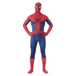 Costume classique spiderman en Ligne-De haute qualité classique rouge et bleu lycra spandex complet du corps spider-man zentai costume super-héros spiderman cosplay costume combinaison pour Halloween
