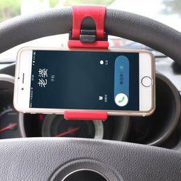Wholesale Steering Bracket - Universal Car Steering Wheel Mobile Phone Holder Bracket for iPhone 6s GPS Smartphone Cradle Holder SMART Clip Bike Mount for Samsung Galaxy