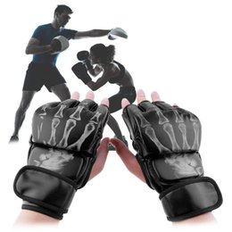 Wholesale Mma Gloves Sale - Hot Sale MMA Fight Boxing Half Finger Glove MMA Sparring Gloves Fight Sandbags Professional Wrestling Fighting Fitness Gear