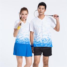 Wholesale Sports Skirt Tennis - New Badminton Shirt Sportswear Quick Dry Breathable Men Women Table Tennis Sports Clothes Shorts Suit (Shirt + Shorts   Skirt) Clothing
