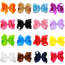 Wholesale Toddler Birthday Hair - 5.9 Inch Jojo Bows with clips Solid Jojo Siwa Style Bows Grosgrain Handmade Hair Bows for Toddlers Birthday Hair Accessories