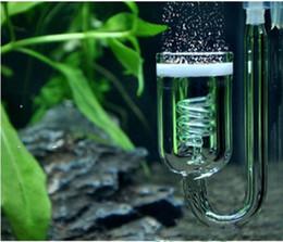 Wholesale Valve Regulators - Aquarium CO2 Diffuser Check Valve U Shape Glass Tube Suction Cup For Tube Plants Tank Atomizer Solenoid Regulator Moss