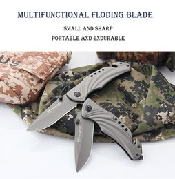 Wholesale Wilderness Tactical - High Hardness Saber Military Outdoors Folding Blade (Gray) Wilderness Survival knife