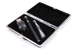 Wholesale Usb Coil - 2017 New E-cigs Oil Vaporizers Pens Vape Starter Kits Includes 510 280mah Battery Ceramic Coil Glass Cartridge USB Charger dhl free