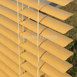 Wholesale Aluminum Alloy Wood - Wholesale-New arrival eco-friendly wood grain alloy blinds beads aluminum alloy shutter curtain MW series