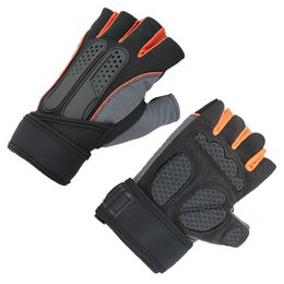 Wholesale Spring Gloves Women - Fitness Gloves Men And Women Breathable Sports Gloves Dumbbell Device Strength Training Half Finger Glove 3639