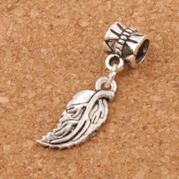 Perles douces en Ligne-Feuilles souples Feuille Big Holes Beads 100pcs / lot 29.8x8.4mm Argent Antique Fit Européenne Bracelets Bracelets B362