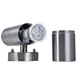 Wholesale Down Lights Kit - New IP65 Stainless Steel 10W Dimmable LED Indoor Outdoor Garden Up & Down Wall Light Lamp Fixture Kit Yard Corridor Villas Parks