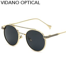 Wholesale Sun Glasses Brand Luxury - Vidano Optical Retro Women Sunglasses Men Classic Polarized Fashion Designer Hot Sale Luxury Brand Oval Sun Glasses UV400