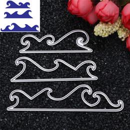 3 UNIDS Sea Wave Metal Cutting Sies Stencil DIY Álbum de Recortes Tarjeta de Papel de Grabado en Relieve Regalo Del Arte desde fabricantes